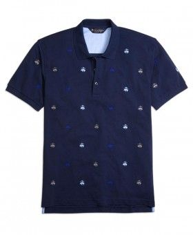 Brooks Brothers » Hombres » Poleras y polerones » Short Sleeve » Short sleeve slim allover embroidered golden fleece polo knit