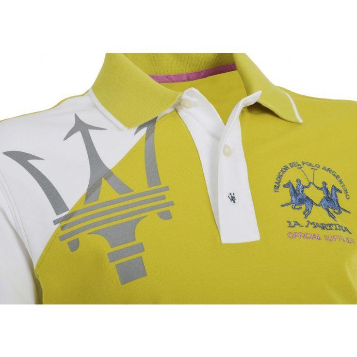 La Martina Men's polo shirt - green/white - Maserati by La Martina - Collection