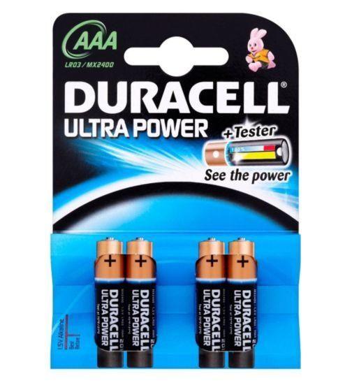 Duracell Ultra Duralock Power AAA Alkaline Batteries - 4 pack #tech #gadget