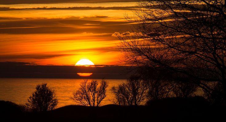 Sol, Pôr Do Sol, Nuvens, Céu, Noite, Dinamarca
