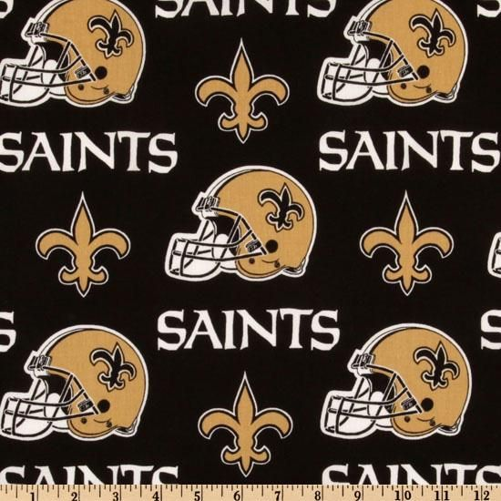Cheer on the New Orleans Saints, your favorite NFL team with this NFL cotton broadcloth fabric. Perfect for use in quilting projects, craft projects and even apparel.