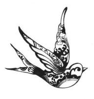 cute tattoo idea design tribal bird