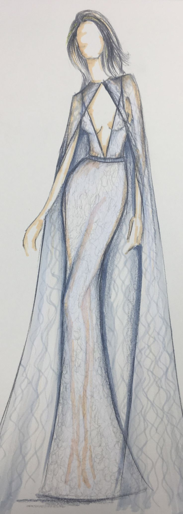 Fashion sketches new fashion sketches - Sketch Of A Masterpiece Berta Style 17 130 From The New 2017 Collection Dress Sketchesfashion