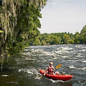 "Men's Journal declares Columbia, SC, to be ""The South's Secret Adventure Town,"" adding that ""South Carolina's capital has whitewater, singletrack trails, and a national park – but no crowds."""