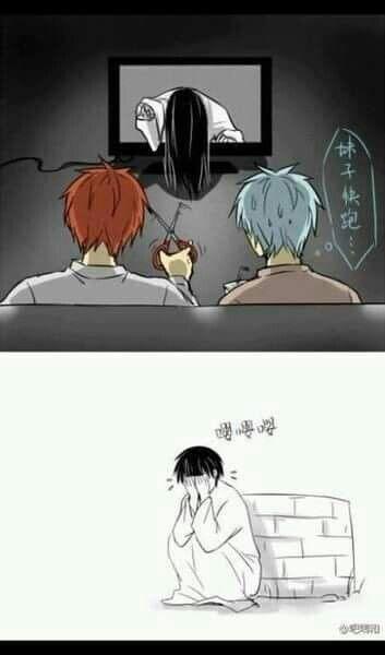 Akashi Seijuro and Kuroko Tetsuya in Kuroko no Basket meme anime boy