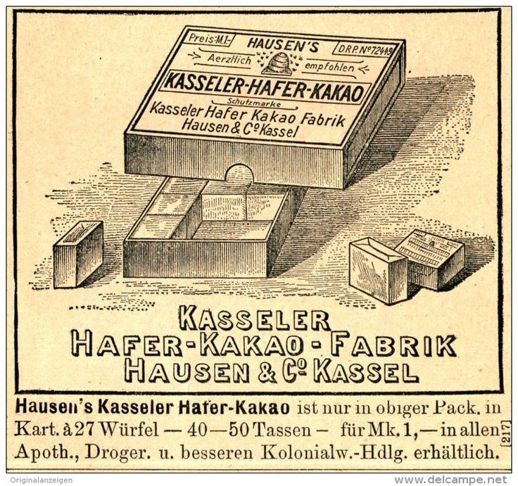 Original-Werbung/ Anzeige 1897 - KASSELER HAFER - KAKAO - HAUSEN - KASSEL - ca…