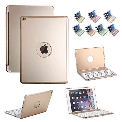 iEGrow iPad Air 2 Bluetooth Keyboard Case with Ultra-Slim Cover Aluminum Alloy Buttom and 7 Colors LED Backlight - for iPad Air 2 (iPad 6) - Gold iEGrow http://www.amazon.com/dp/B00XJFJJ3C/ref=cm_sw_r_pi_dp_9n35vb0PPRZJ1
