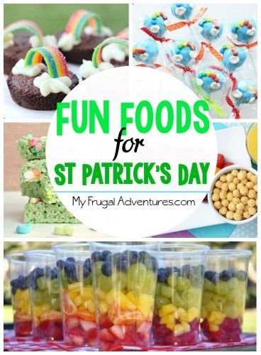 St Patrick's Day Foods- fun snacks and treats for children!
