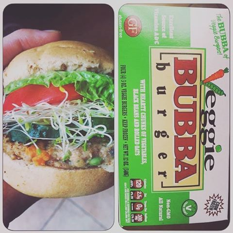 @veganfitjojo posted this shot of our new Veggie BUBBA burgers! Vegetarian and vegan friendly! #BUBBAburger #veggieburger #vegetarian #vegan #lean #eatlean #BUBBAburgers #BUBBA #homecooked #homemade #sprouts #tomato #lettuce #blackbeanburger #oats #fanpic #glutenfree #leangains #grillmaster #chef