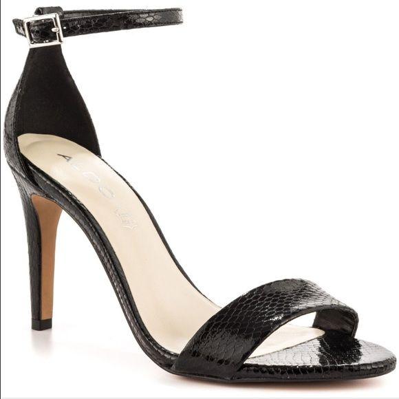 Aldo Black 2 Strap Heels