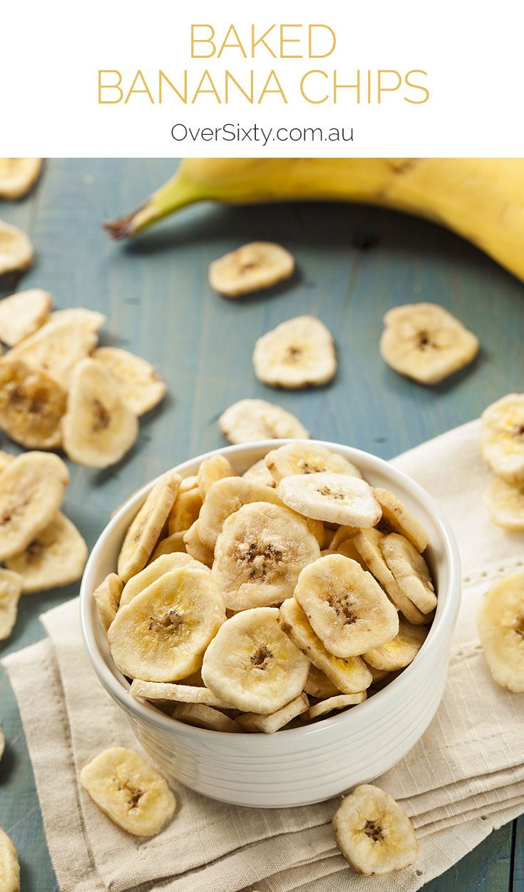 Baked Banana Chips - make your own banana chips without all the added sugar and preservatives you find in store-bought varieties. All you need is some ripe bananas, an oven, and a little fresh lemon juice.