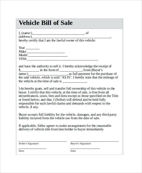 Car Sale Receipt Sample Inspirational Sale Of Vehicle Receipt Car