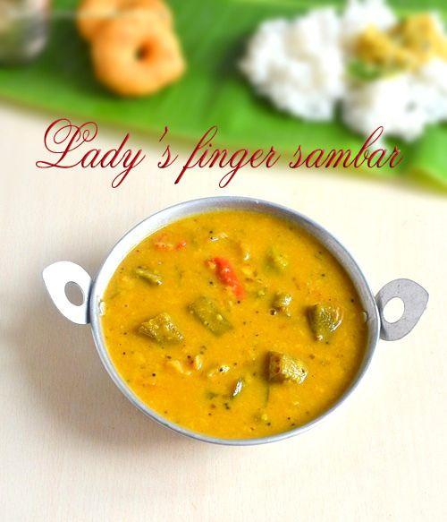 Chitra's Food Book: VENDAKKAI SAMBAR RECIPE(LADY'S FINGER SAMBAR RECIP...