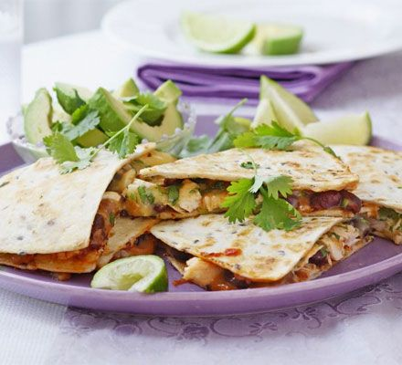 Frugal cooking, but packed with flavour - use up leftovers from roast chicken with these easy Mexican-style snacks