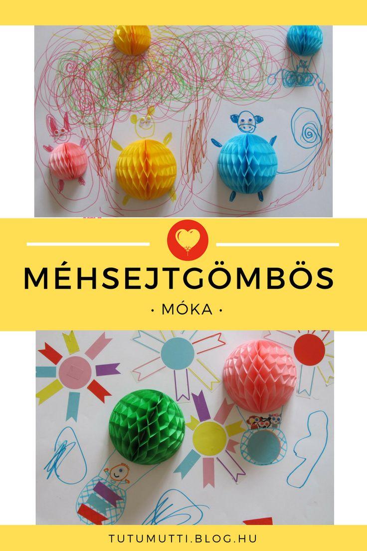 Tutumutti - Gyerekkel kreatívan blog / www.tutumutti.blog.hu / Méhsejtgömbös móka / Honeycomb ball drawings / DIY and Crafts