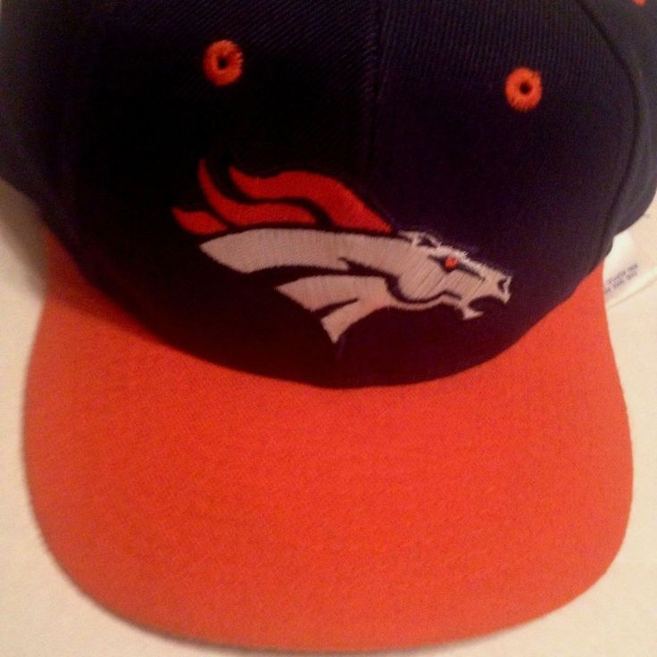 Vintage Denver Broncos Hat wool Orange Blue Snapback embroidered NOS NWT   #TwinsEnterprise #BaseballCap