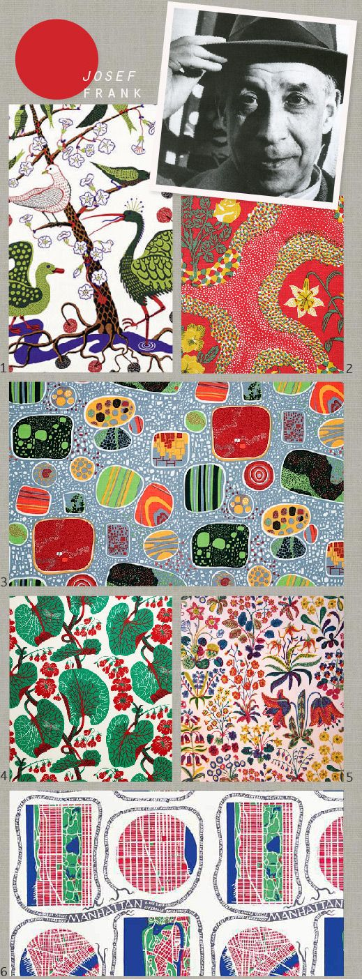 Josef Frank via Birds of Ohio
