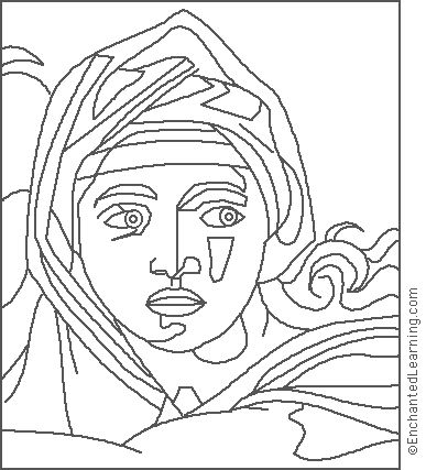 art history coloring book pages - photo#18