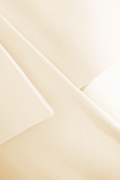 Alexander McQueen - Wool And Silk-blend Twill Peplum Coat - Ivory - IT