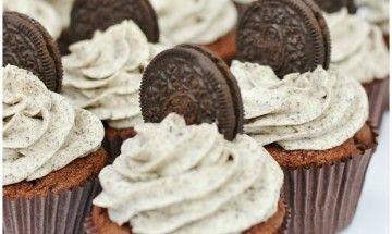 Čokoládové Oreo cupcakes