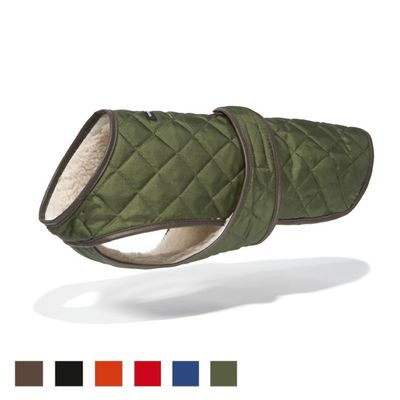 The Quilted Vest with Berber Fleece is a comfortable, secure option for a winter dog coat. Great for any weather, your dog won't miss out on fun and play!