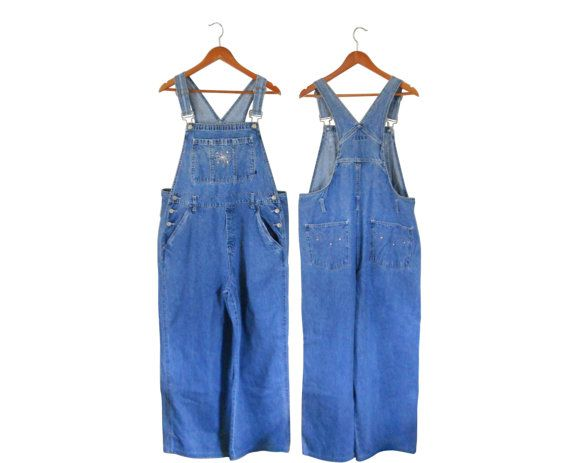 Plus Size Overalls XL Overalls Women Denim by #ShineBrightVintage