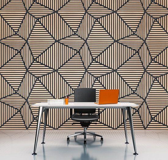 Optically-stimulating acoustic wall panels.
