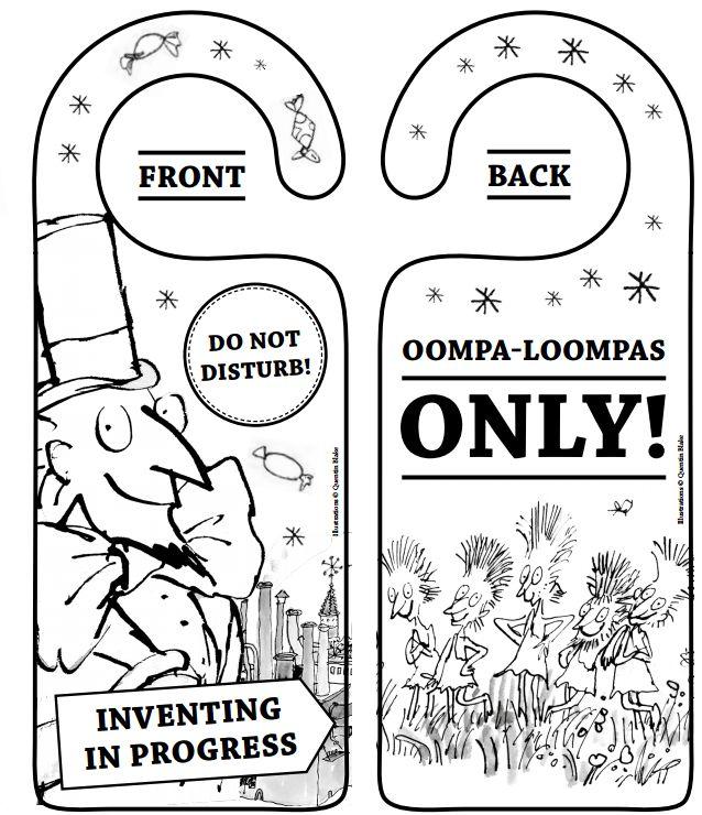 Oompa Loompa door hanger