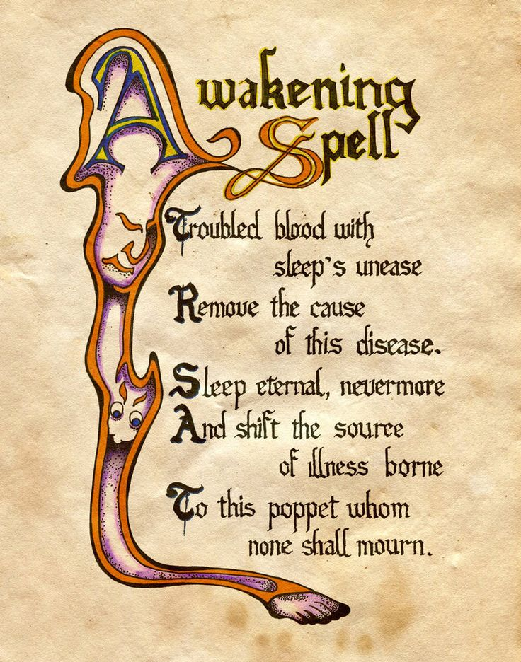 For a witch's spell book