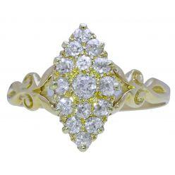 47577C Victorian Marquise Diamond Ring