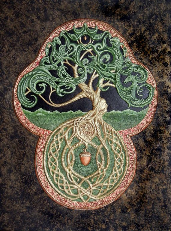 Am blown away by the details in this, the longer you look, the more things you see!   The Celtic Tree of Life Cast Paper  Large  Tree  by Castpaper, $1000.00