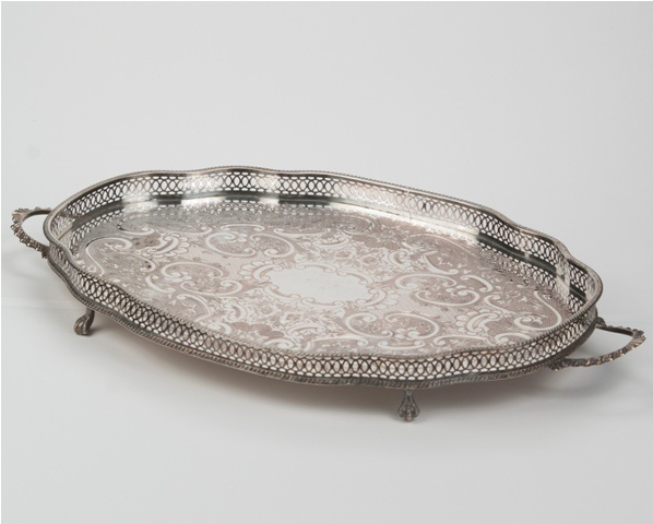 www.eventsandtents.co.za  Variety of Antique Silver Trays