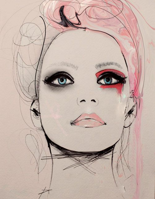 Mares Tale  Fashion Illustration Art Print by LeighViner on Etsy, $28.00