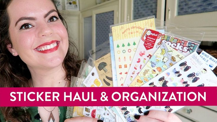 Sticker ORGANIZATION & HAUL | Yozo Craft and Supplies for my Planner