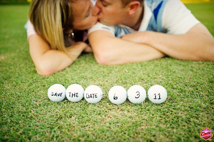 cute golf ' save the date' idea. truelovephoto.com
