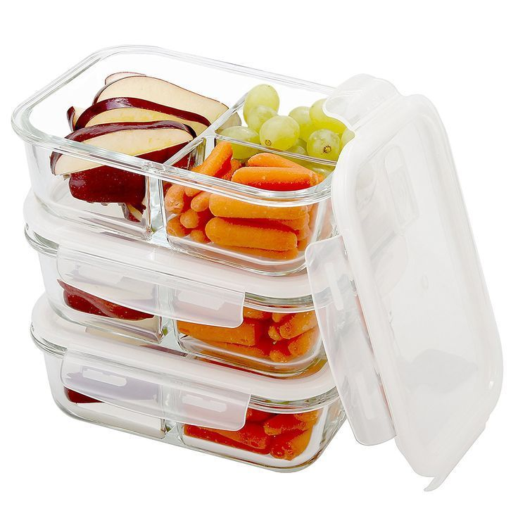 Makes a great gift! #glasstupperware #healthy #healthylifestyle Amazon.com: Glass Meal Prep Containers 3 Compartment with Vented Lids - Food Storage | Portion Control | BPA Free, Microwave, Oven, and Dishwasher Safe | Airtight and Leakproof Lids | Bento Box | Lunch Containers
