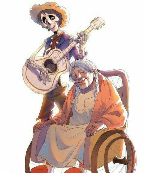 Coco y Hector de coco Pixar