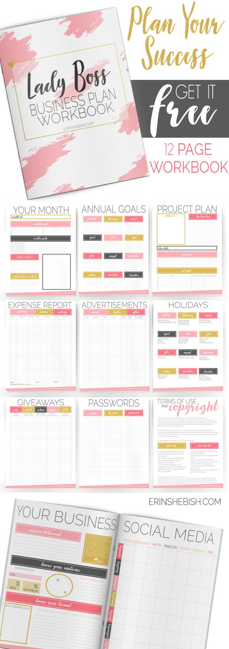 Get The Lady Boss Biz Planner Business planner, How to