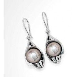 Pearl Earrings - Rhodium Plated Sterling Silver #Gemstone #Jewellery