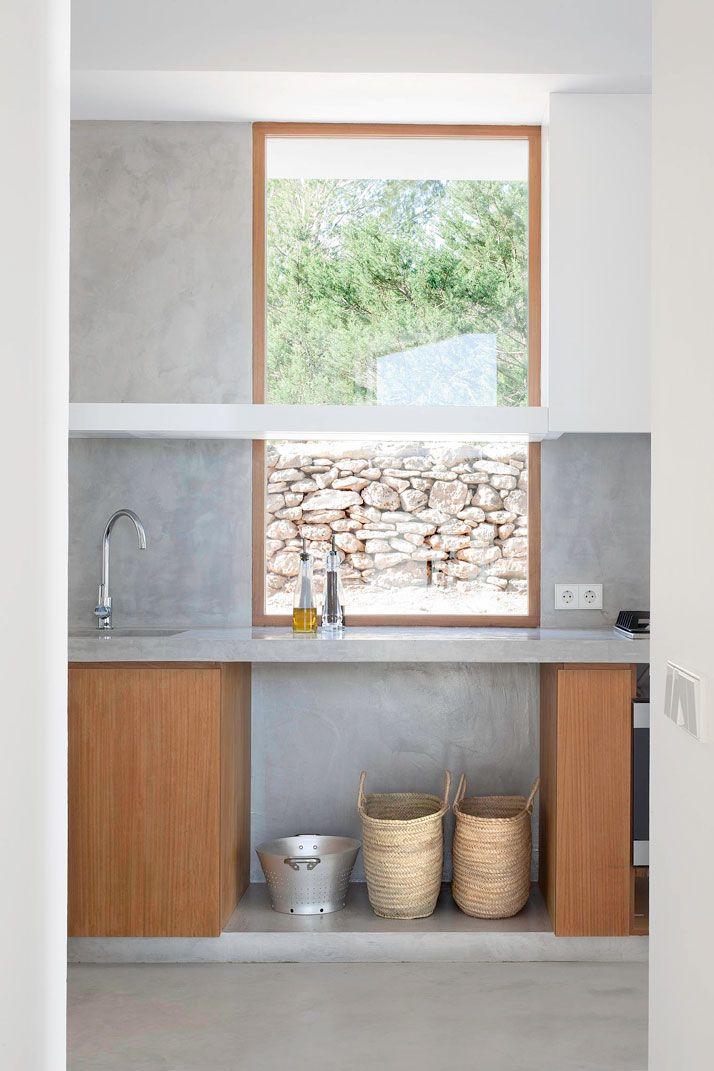 modern kitchen in Spanish countryside