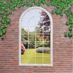 Georgian Arched Window Garden Mirror
