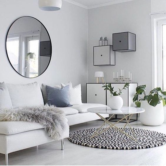 11 Different Living Room Decoration Idea With White Corner Sofa