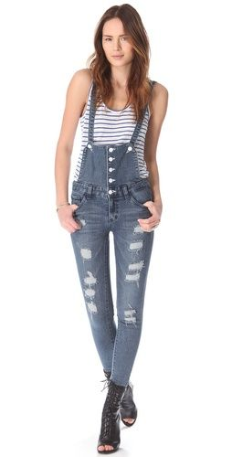 I saw that tight overalls were in-style and I just shook my head in horror. Lord help us everyday moms. Would you wear these?