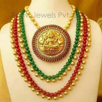 Lakshmi gold pendent........