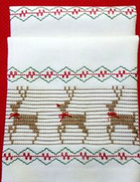 Rudolph Huck Embroidery Towel Kit