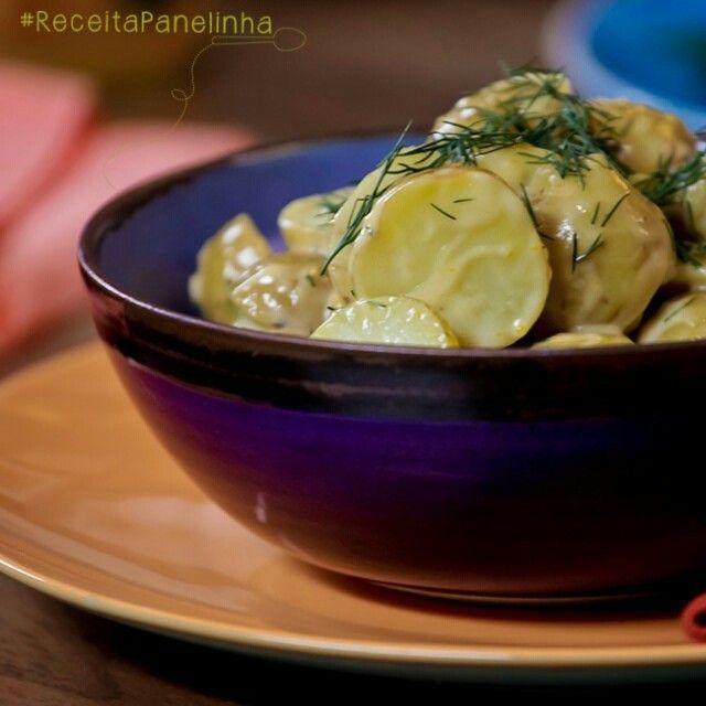 #ReceitaPanelinha do dia: salada de batata com endro. Em destaque no www.panelinha.com.br #Batata