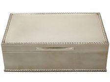 Vintage,  Sterling Silver Jewellery Box, Elizabeth II