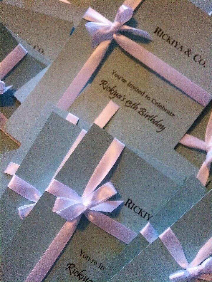 Tiffany & Co. Themed Invitations