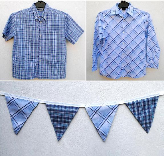 Great upcycling idea for men's shirts {or all the bits left over from that men's shirt quilt you are going to make!}