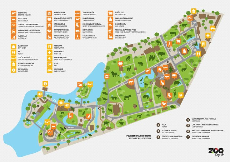 Karta Zoo Vrta Zoo Hr Zoo Map Zagreb